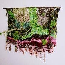 gerecycled materiaal oude sjaals Gebreid